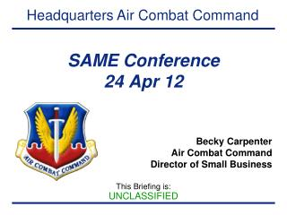 SAME Conference 24 Apr 12
