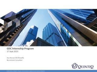 GDC Internship Program