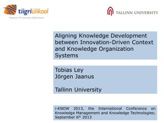 Aligning Knowledge Development between Innovation-Driven Context and Knowledge Organization Systems