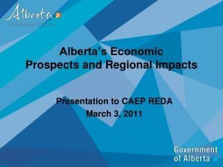 Alberta's Economic Prospects and Regional Impacts