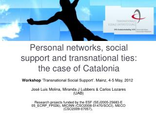 Personal networks, social support and transnational ties: the case of Catalonia
