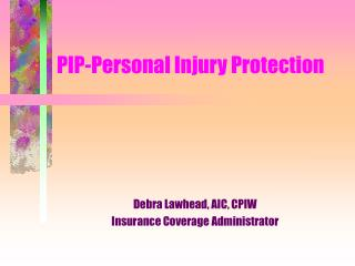 pip-personal injury protection