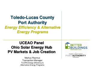 Toledo-Lucas County Port Authority Energy Efficiency & Alternative Energy Programs