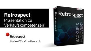 Retrospect Präsentation zu Verkaufskompetenzen und technischen Fachkenntnissen