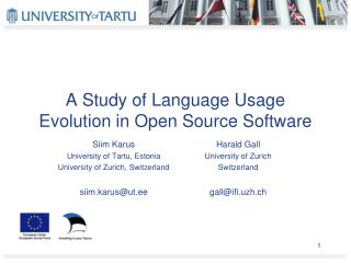 A Study of Language Usage Evolution in Open Source Software