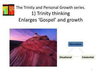 The Trinity and Personal Growth  series. 1) Trinity  thinking  E nlarges  'Gospel' and growth