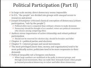 Political Participation (Part II )