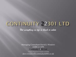 Continuity  2 2 301 Ltd