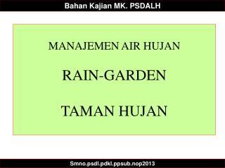 Bahan Kajian  MK. PSDALH