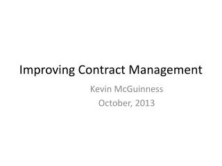 Improving Contract Management