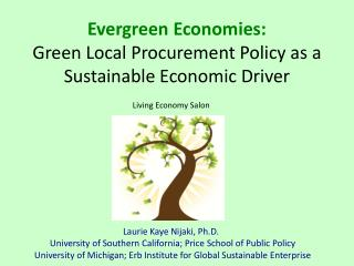 Evergreen Economies: Green Local Procurement Policy as a Sustainable Economic Driver
