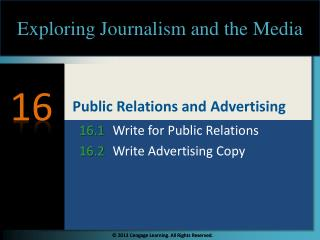 Public Relations and Advertising