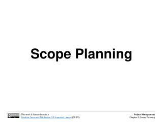 Scope Planning