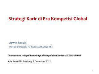 Strategi Karir di Era Kompetisi Global