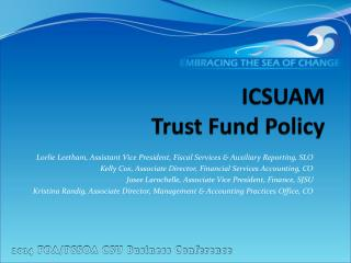 ICSUAM Trust  Fund  Policy