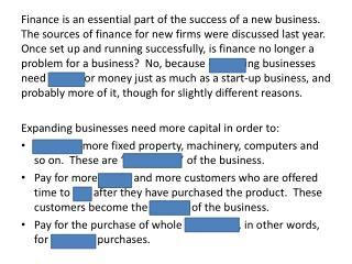 Run n reveal unit 2 finance summary