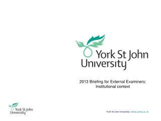 York St John University |  www.yorksj.ac.uk