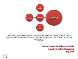 The Narrative Core Reference Guide Impact Evaluation Discussion July 2013