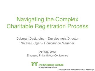 Navigating the Complex Charitable Registration Process