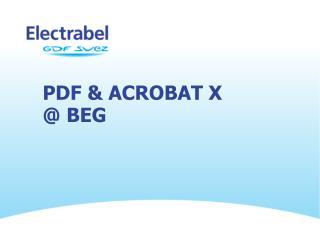 PDF & Acrobat X @  BEG