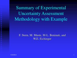 summary of experimental uncertainty assessment methodology with example