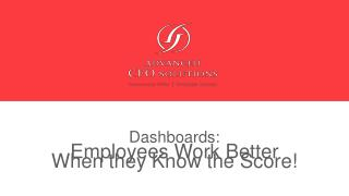 Dashboards: Employees Work Better When they Know the Score!