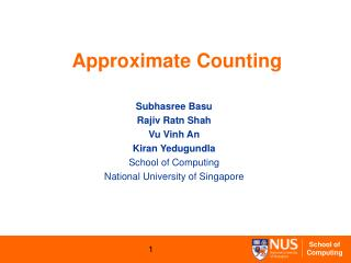 Approximate Counting