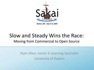Slow and Steady Wins the Race: Moving from Commercial to Open Source