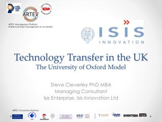 Technology Transfer in the UK The University of Oxford Model