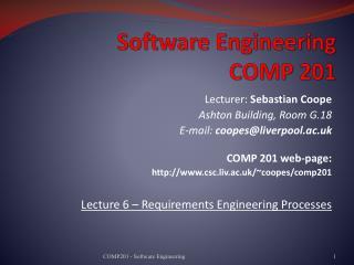Software Engineering COMP 201