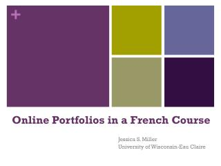 Online Portfolios in a French  Course