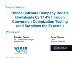 Online Software Company Boosts Downloads by 17.4% through Conversion Optimization Testing  (and Surprises the Experts!)