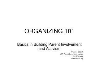 ORGANIZING 101