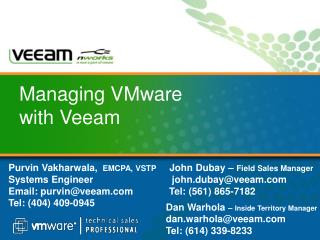 Managing VMware with Veeam