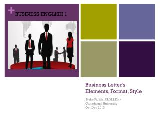 Business Letter's Elements, Format, Style