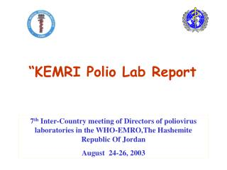 """KEMRI Polio Lab Report"