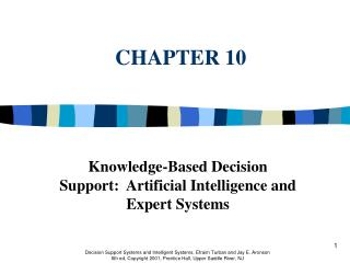 knowledge-based decision support:  artificial intelligence and expert systems