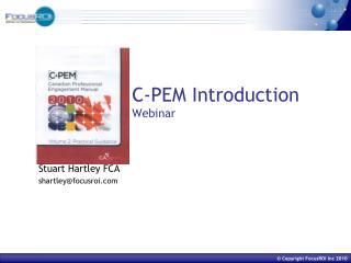 C-PEM Introduction Webinar