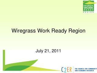 Wiregrass Work Ready Region