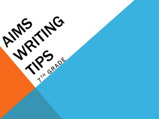 AIMS Writing Tips