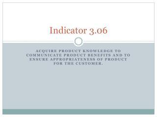 Indicator 3.06