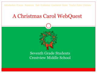 A Christmas Carol  WebQuest