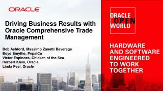 Driving Business Results with Oracle Comprehensive Trade Management