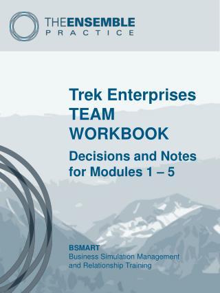 Trek Enterprises TEAM WORKBOOK