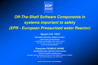 off-the-shelf software components in systems important to safety ...