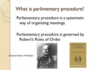 What is  parlimentary  procedure?