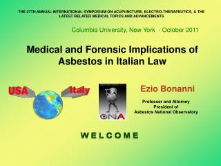 Medical and Forensic Implications of Asbestos in Italian Law