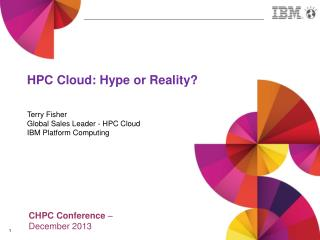 HPC Cloud: Hype or Reality?