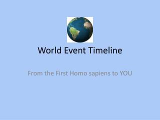 World Event Timeline