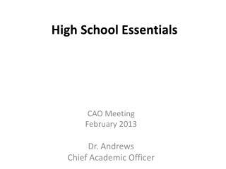 High School Essentials